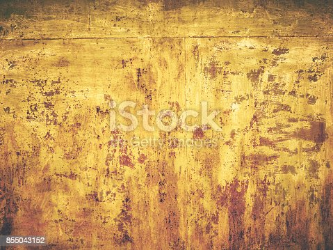 94372741 istock photo Rusty old color grunge yellow wall texture background 855043152