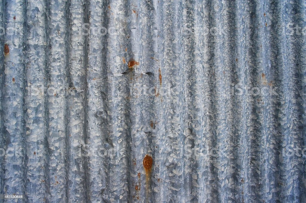 Rusty old corrugated iron or galvanized iron background stock photo