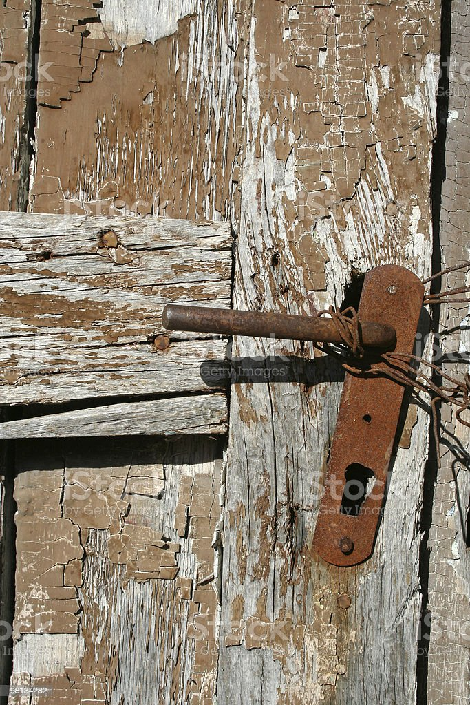 Rusty old door lock royalty-free stock photo