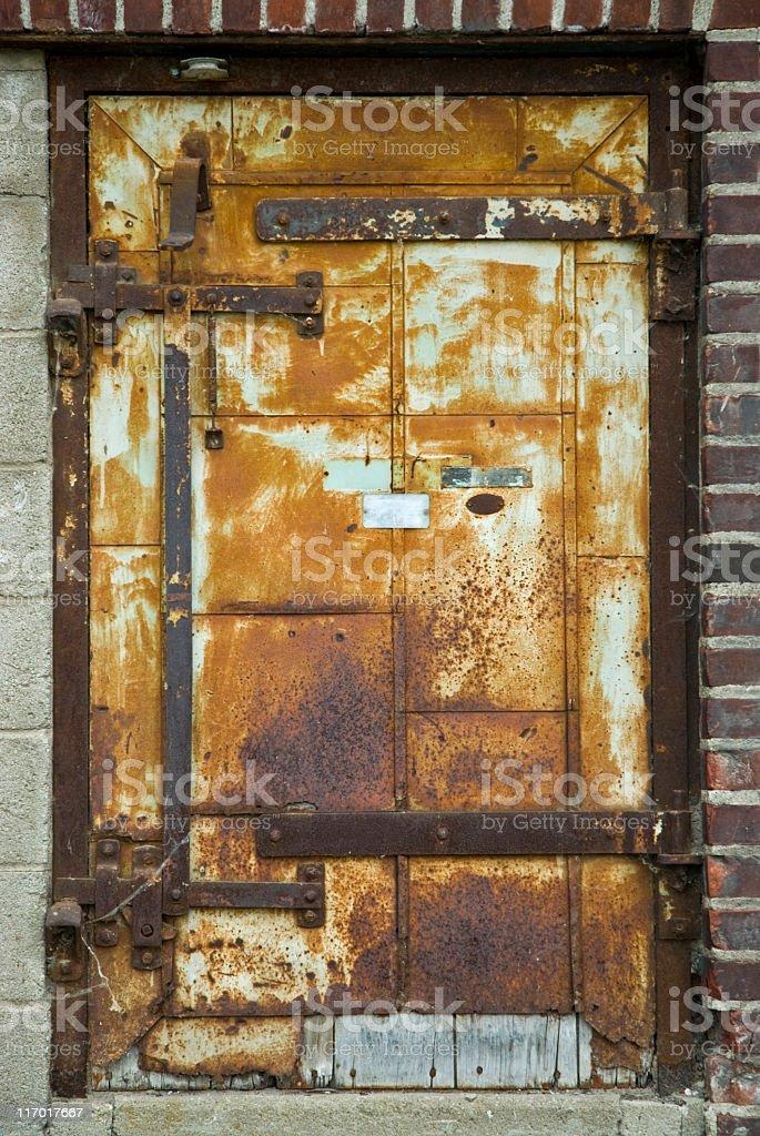 Rusty Old Door stock photo