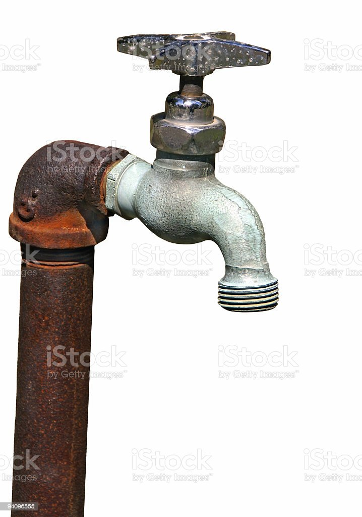 Rusty Old Faucet On White Stock Photo & More Pictures of Color Image ...