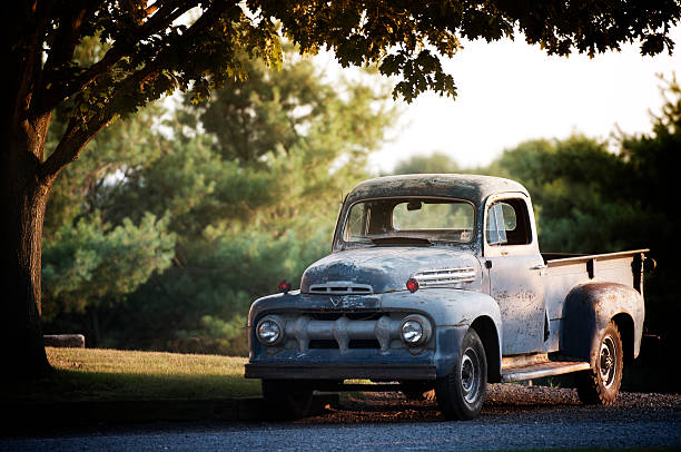 Rusty Old Ford F2 Pickup stock photo