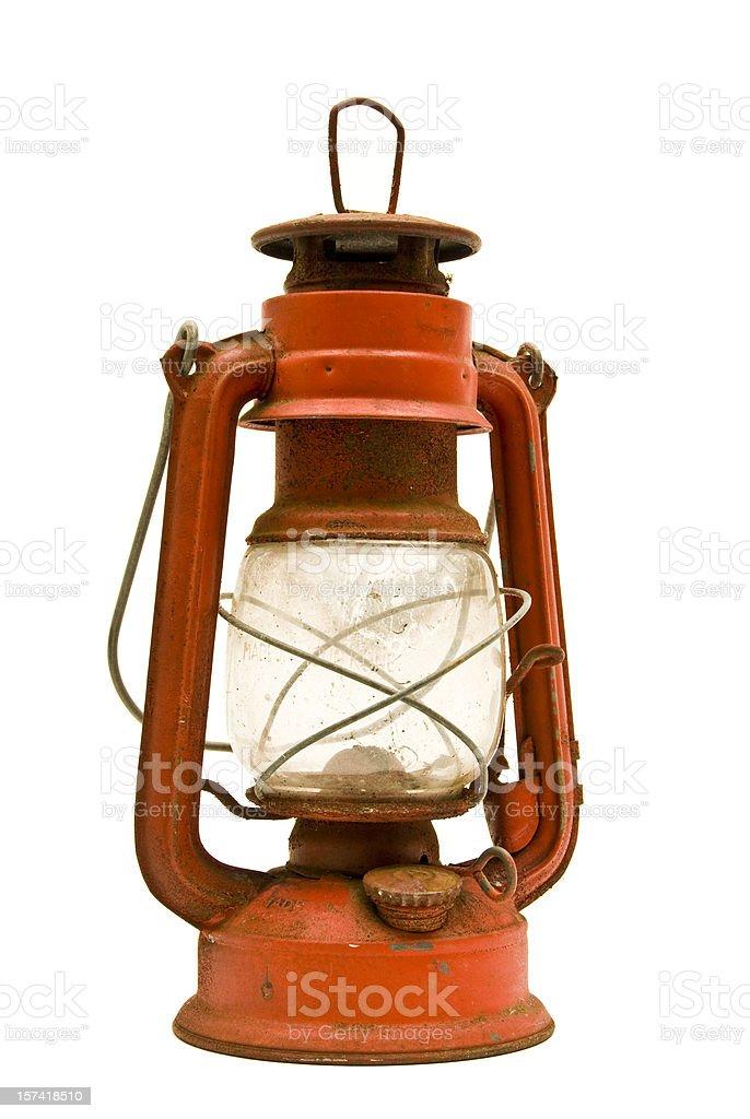 Rusty Old Lantern stock photo