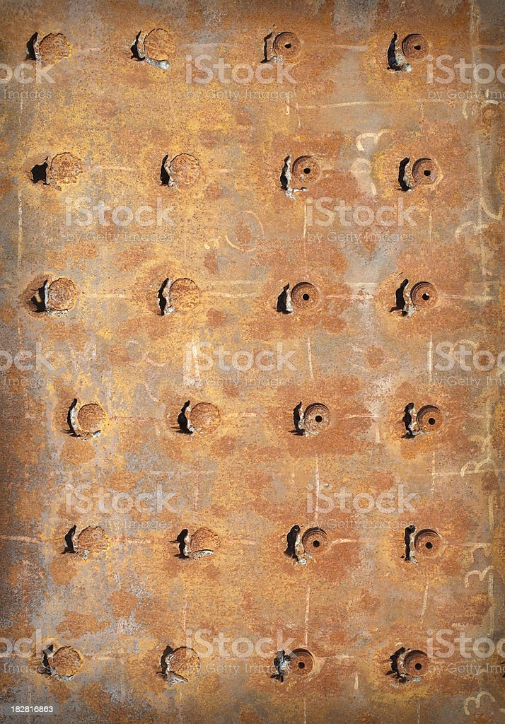 Rusty, old metal plate background royalty-free stock photo