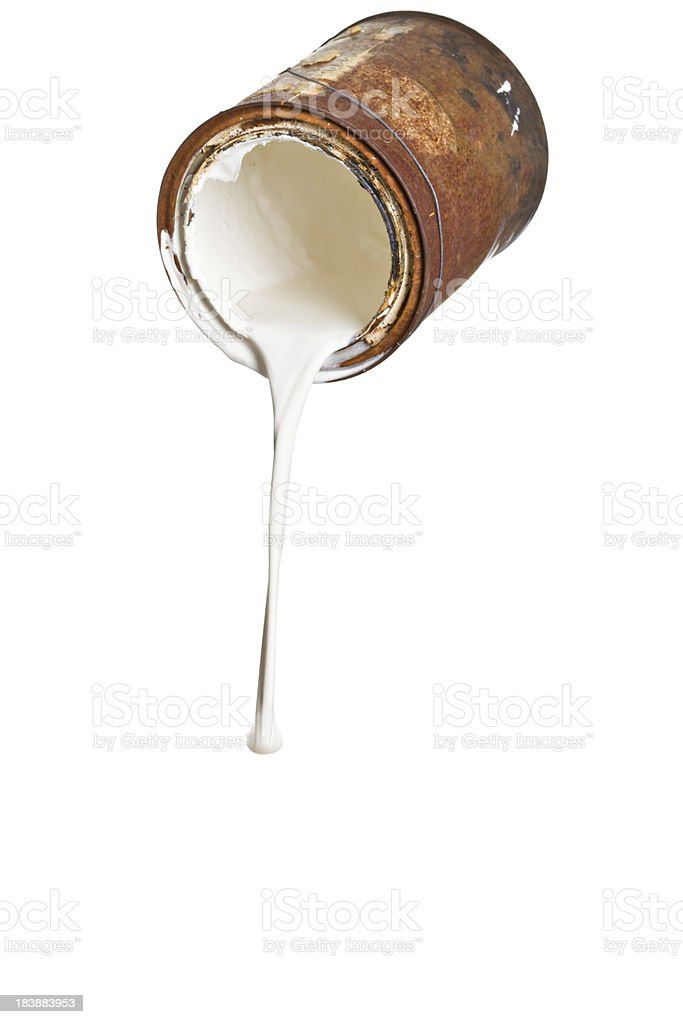 Rusty Old Paint Can royalty-free stock photo