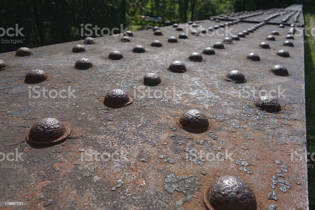 rusty old rivets stock photo