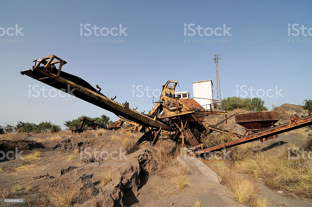 Rusty Old Sand Machinery royalty-free stock photo