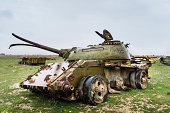 tank wreck on a war area/Afghanistan