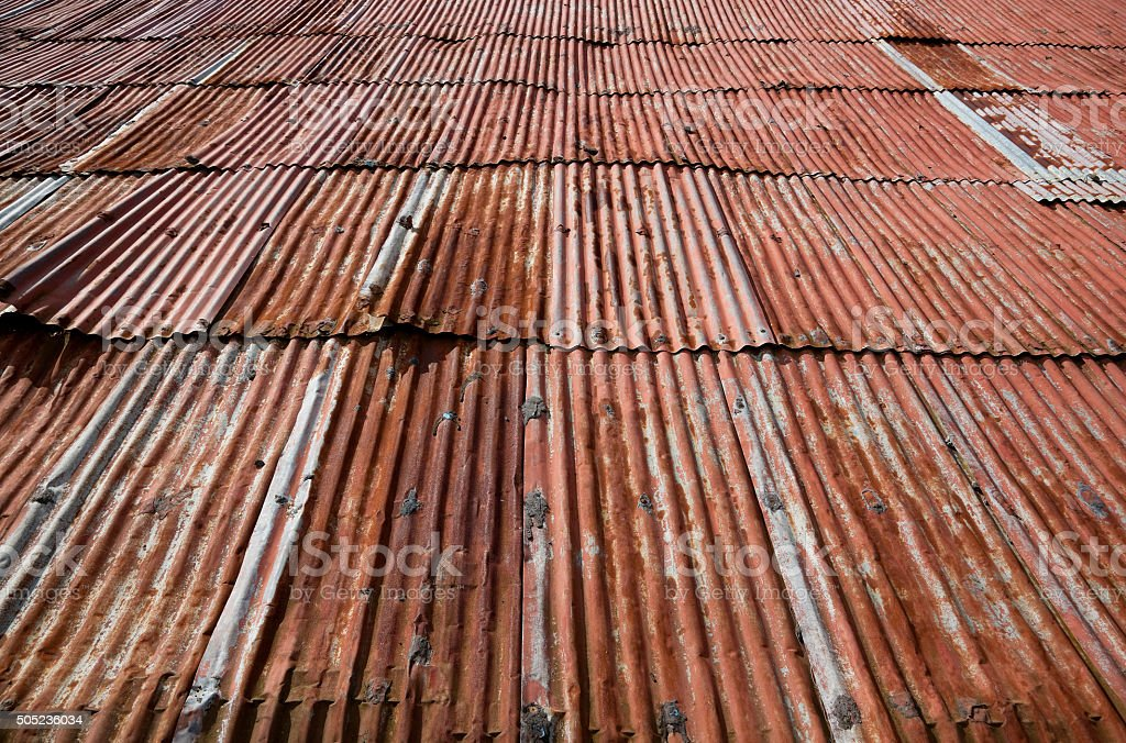 Rusty Old Tin Roof On Barn In Nicaragua Royalty Free Stock Photo