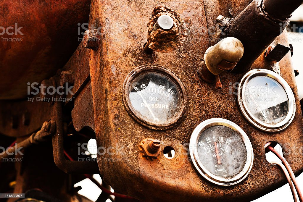 rusty old tractor gauges stock photo 471822397 istock Antique Tractor Gauges rusty old tractor gauges royalty free stock photo