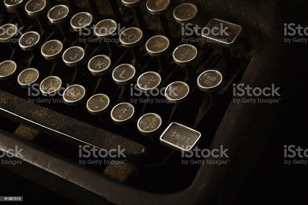 Rusty Old Typewriter Keyboard royalty-free stock photo