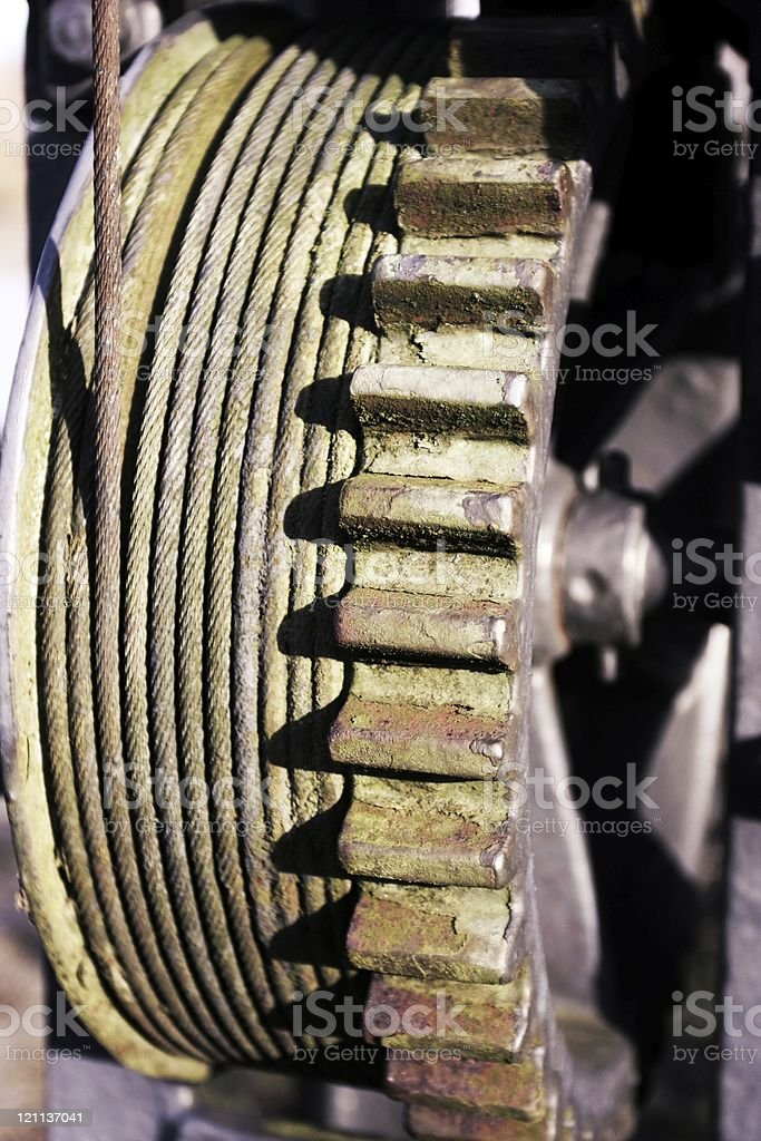 Rusty old vintage gear royalty-free stock photo