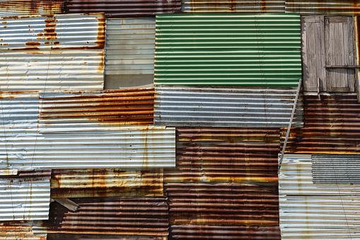 Rusty old zinc background