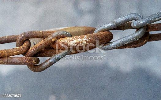 Door Chain , rusty, chain , lock, backgrounds