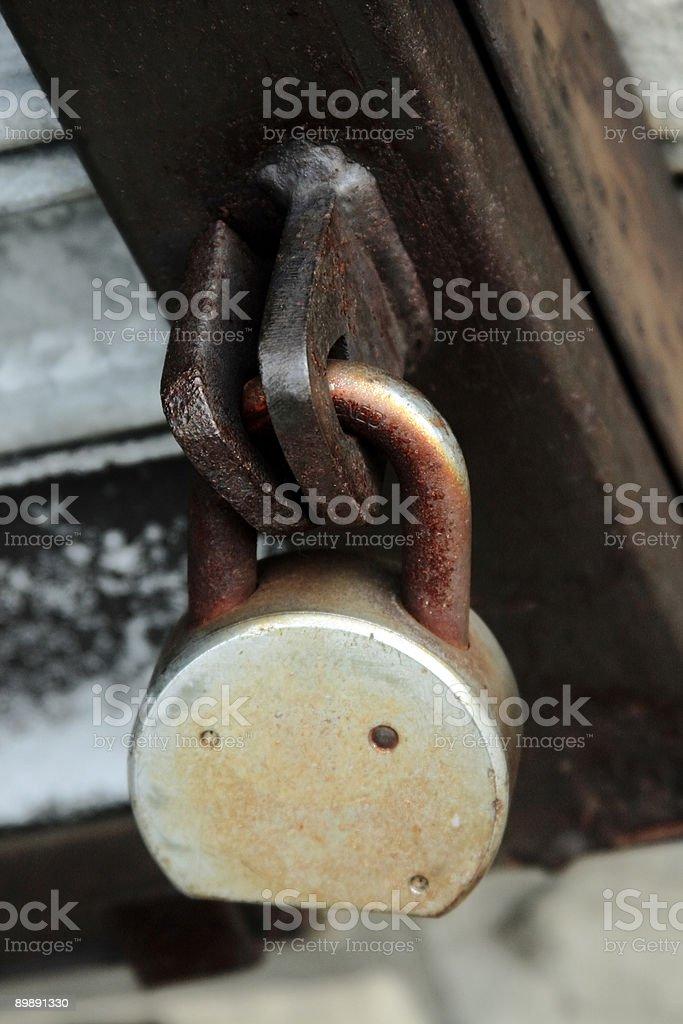 Rusty Padlock - Close-Up stock photo