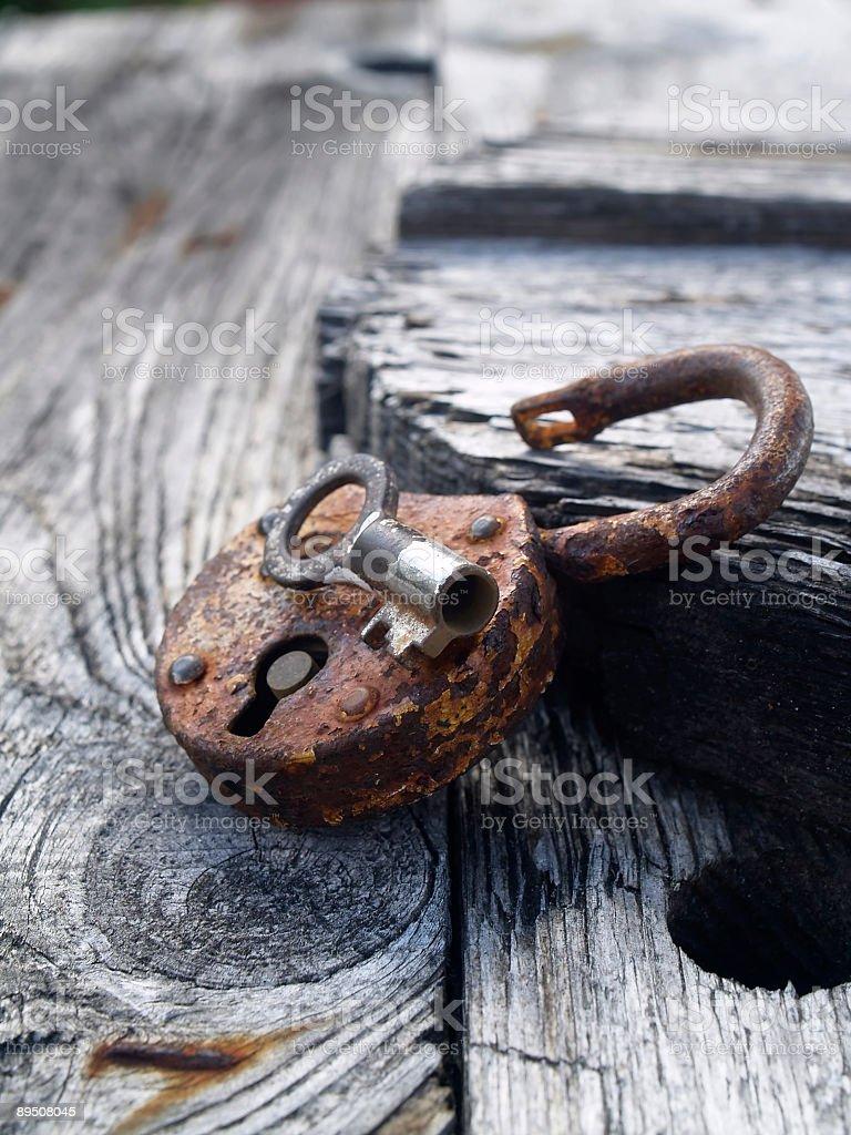 Rusty Cadenas photo libre de droits