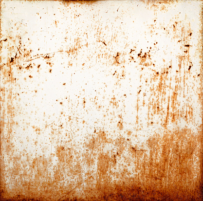 Rusty metallic background with chipping paint