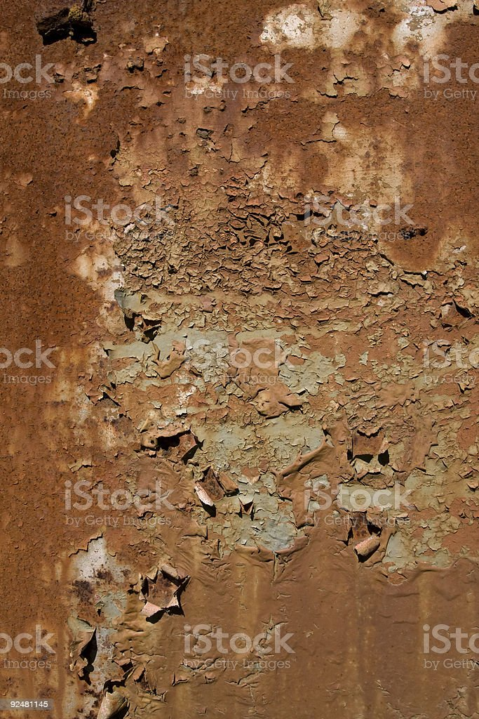 Rusty painted wall royalty-free stock photo