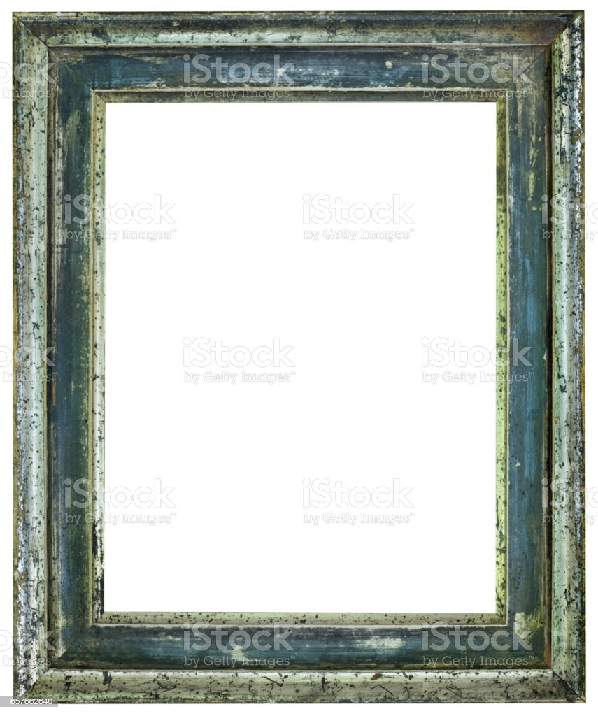 Rusty Picture Frame Cutout stock photo