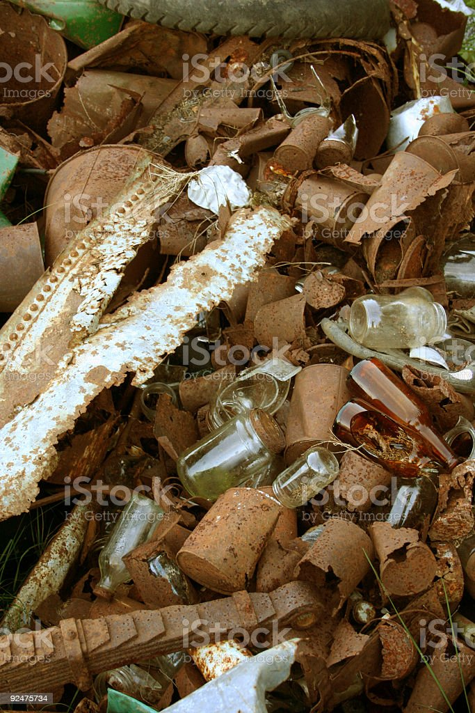 Rusty pile of junk royalty-free stock photo