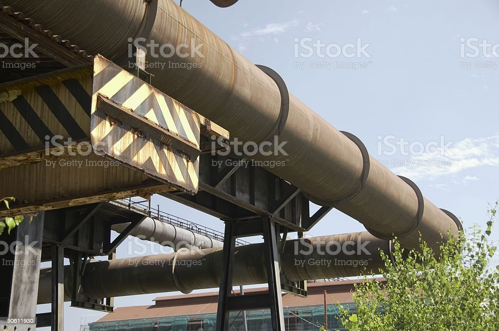 rusty pipes from old blast furnace 03 royalty-free stock photo