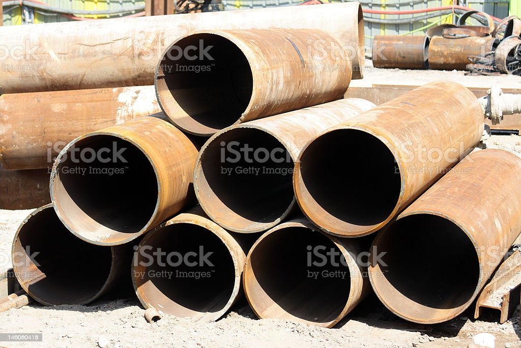 Rusty pipes royalty-free stock photo