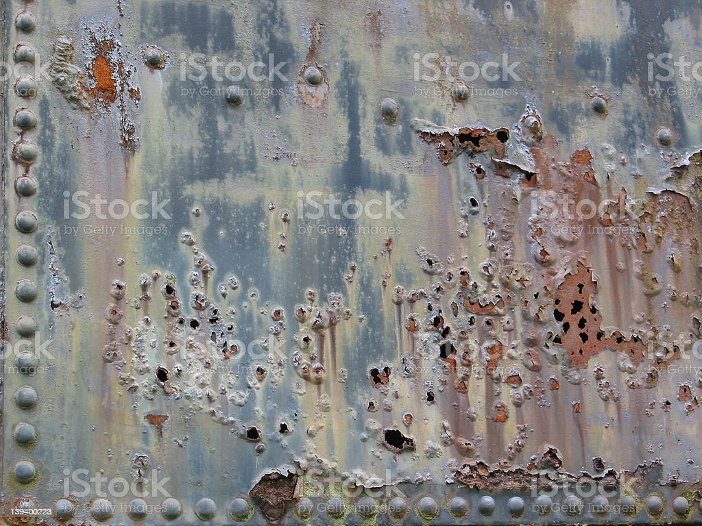 Rusty, Pitted Metal stock photo