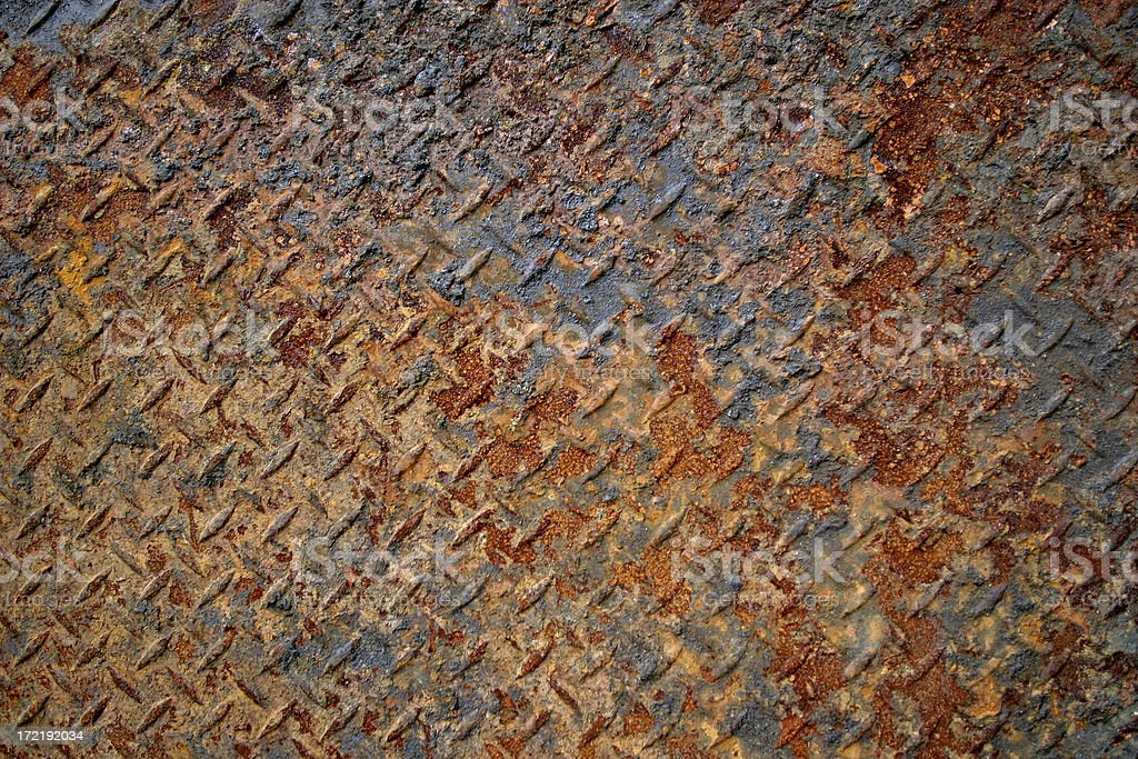 Rusty plate metal royalty-free stock photo
