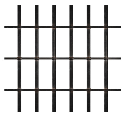 Rusty bars isolated on white background with clipping paths