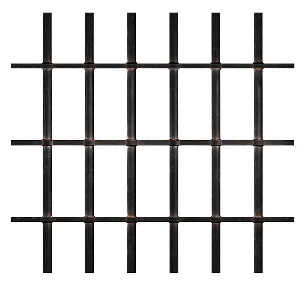 Rusty Prison Bars stock photo