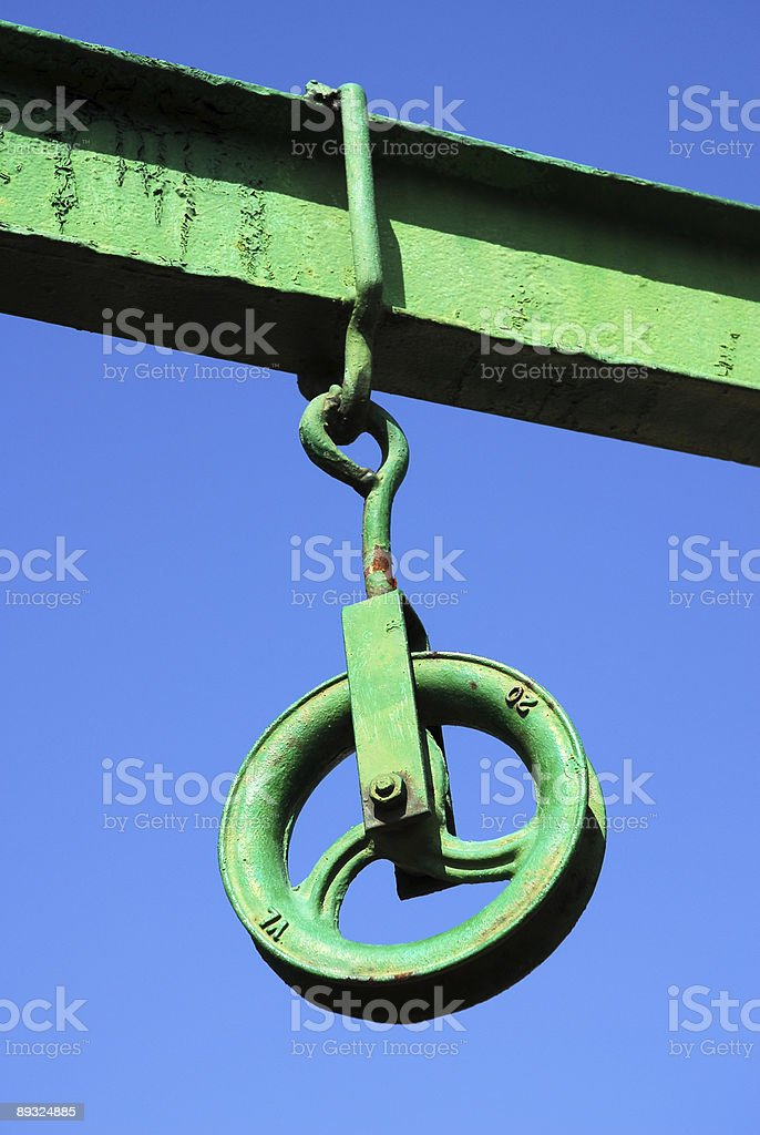 Rusty pulley royalty-free stock photo