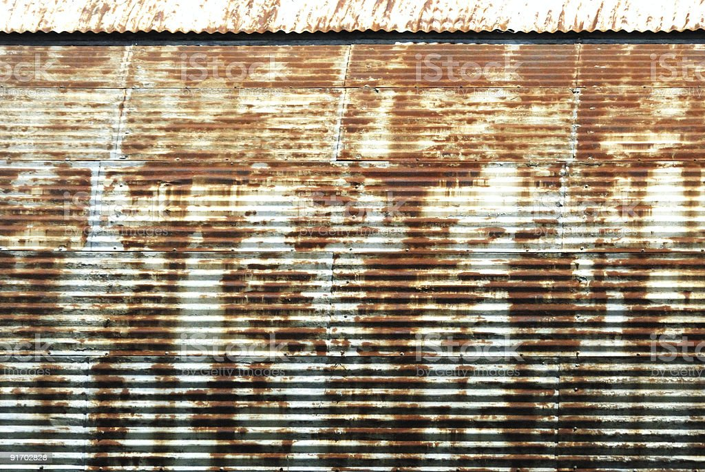 Rusty Quonset royalty-free stock photo