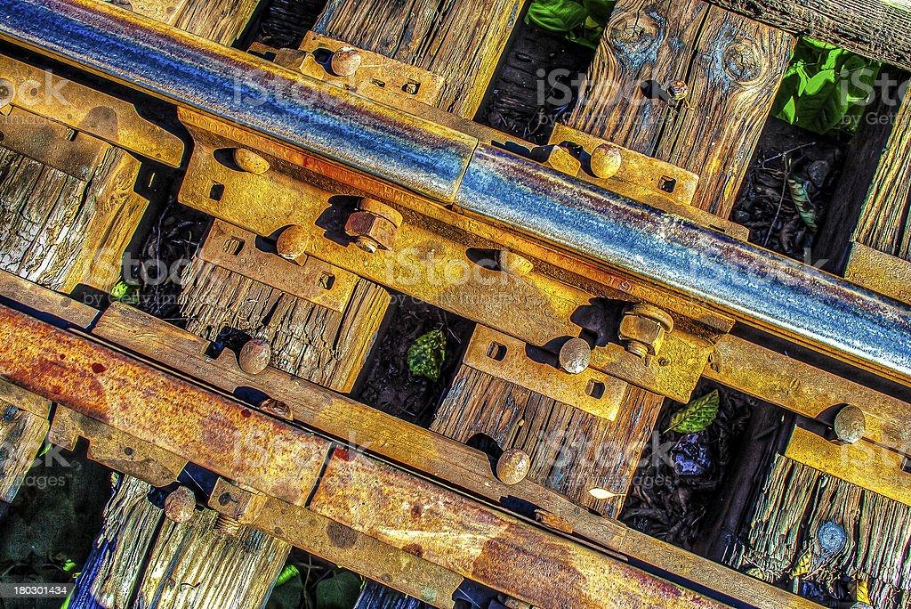 Rusty Railroad Tracks royalty-free stock photo