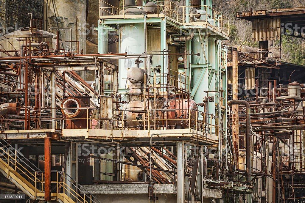 Rusty Refinery royalty-free stock photo