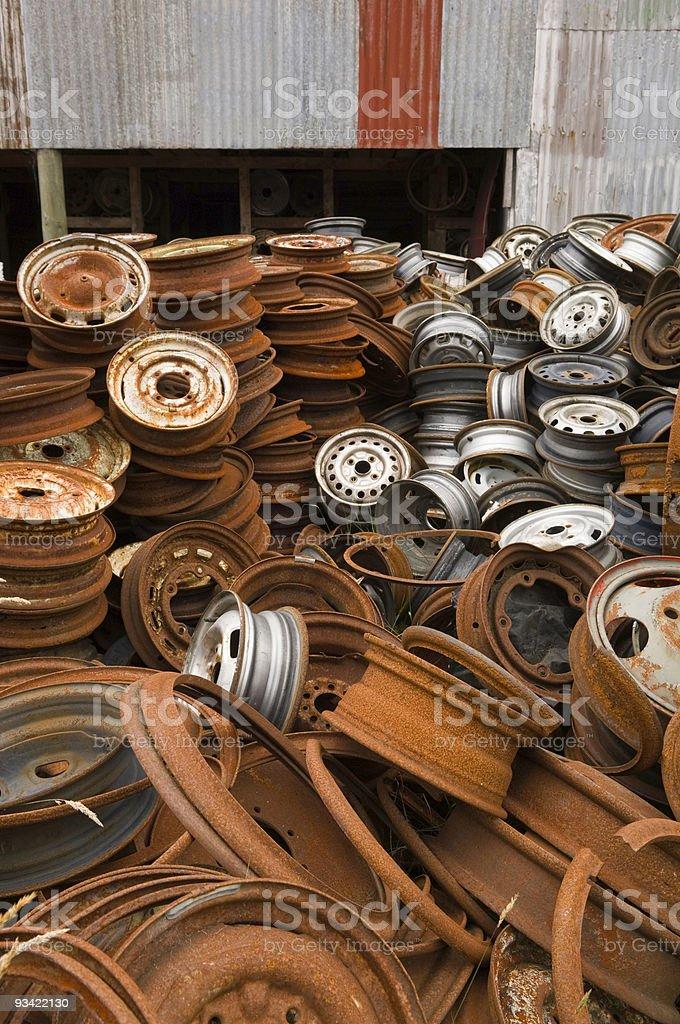 Rusty Rims royalty-free stock photo