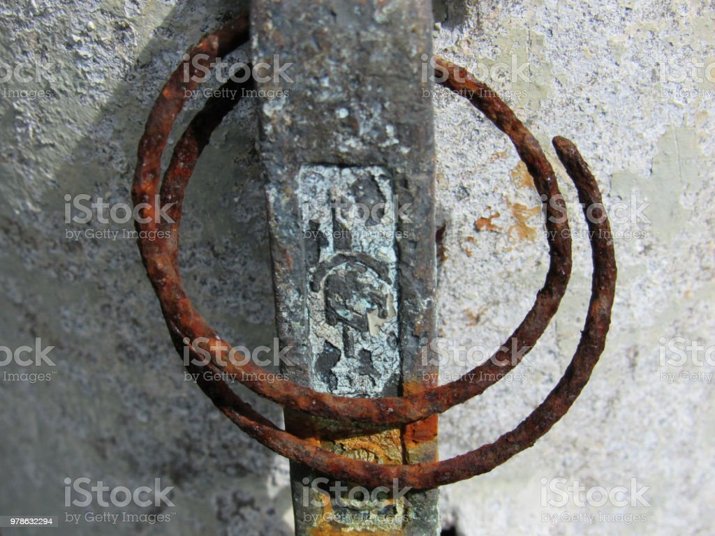 Rusty rings stock photo