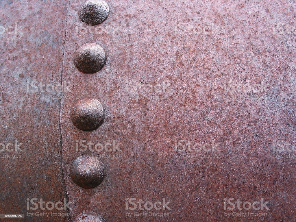 Rusty Rivets and Metal stock photo