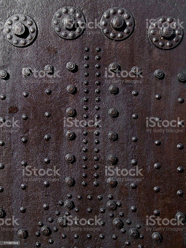 rusty rivets royalty-free stock photo