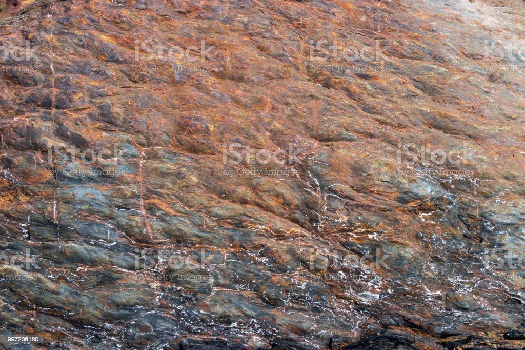 Rusty rock. stock photo