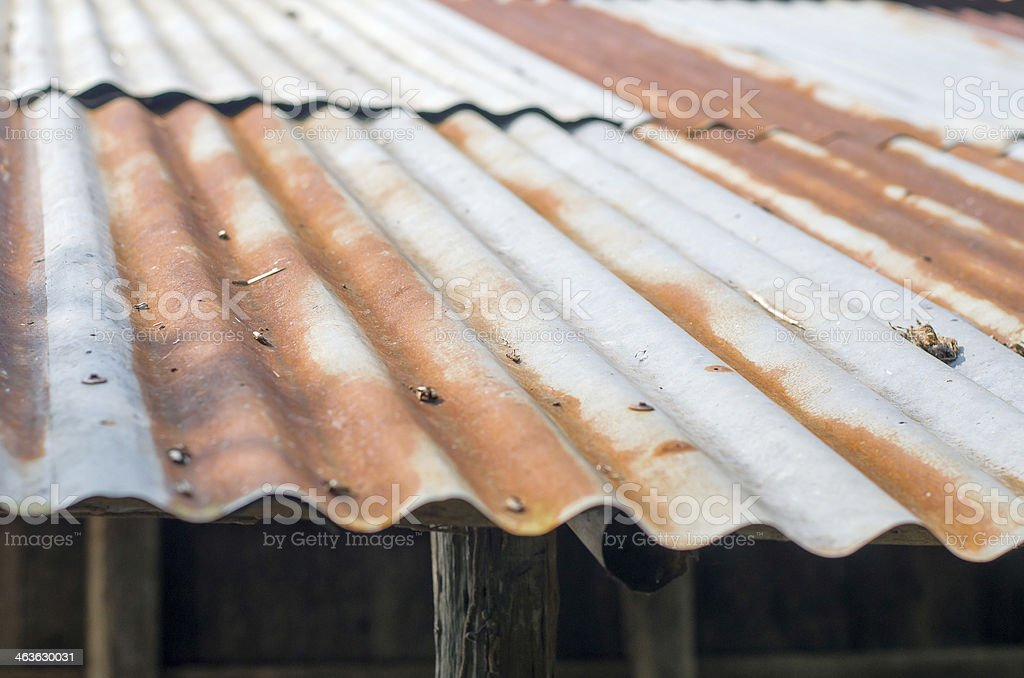 Rusty Roof stock photo