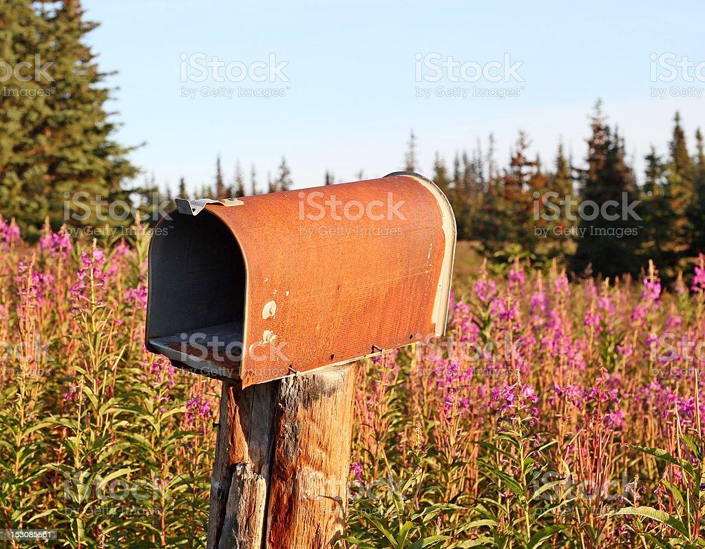 Rusty rural mailbox royalty-free stock photo