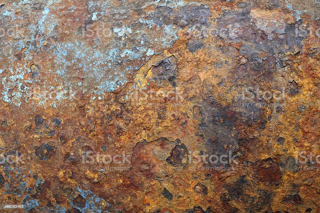Rusty scrap steel pipe royalty-free stock photo