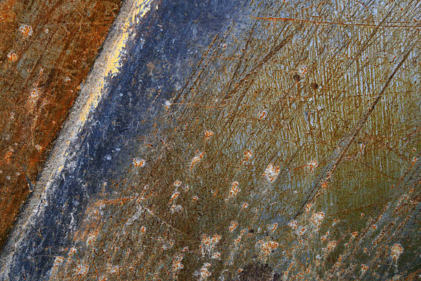 Rusty Scratched Metal Background stock photo