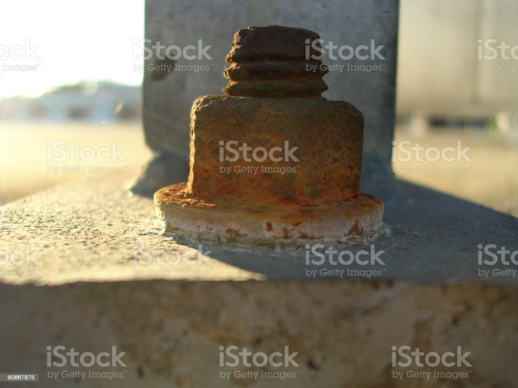 Rusty Screw and Bolt royalty-free stock photo