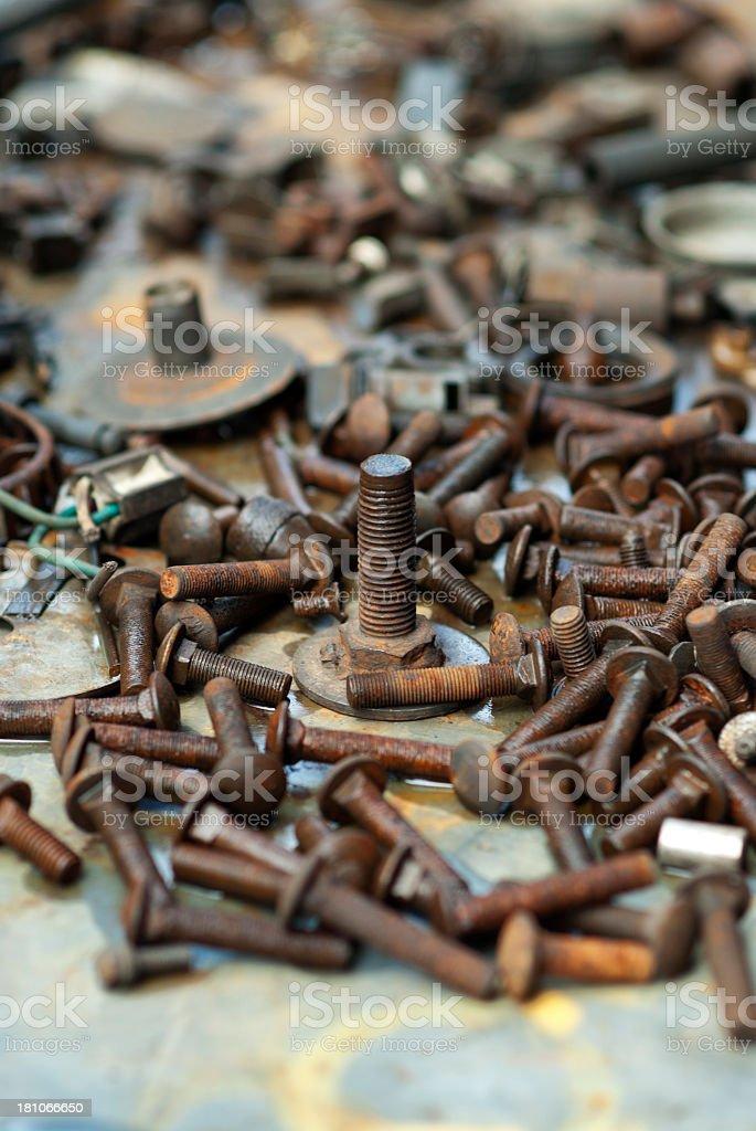 Rusty screws royalty-free stock photo