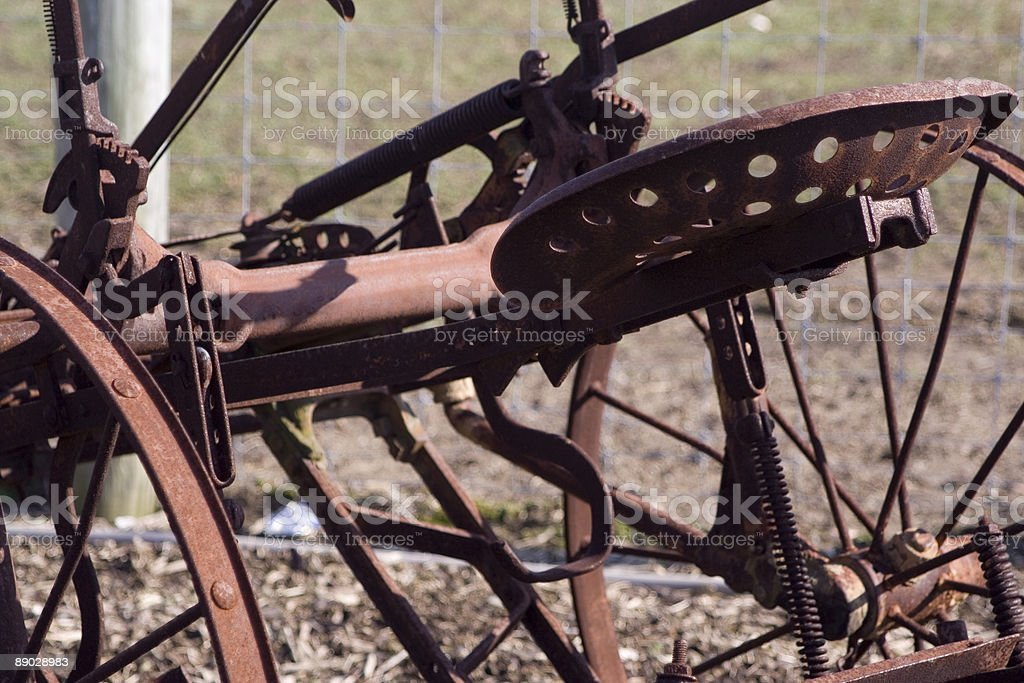 Rusty Seat on Old Tractor royalty-free stock photo