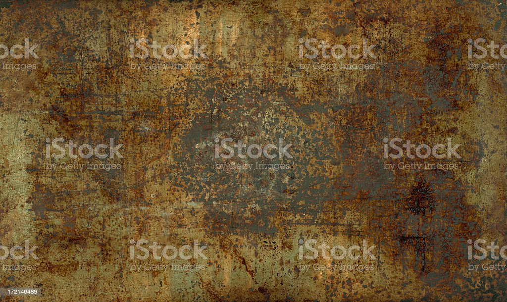 Rusty sheet metal; HIGH RES 9.6mp royalty-free stock photo