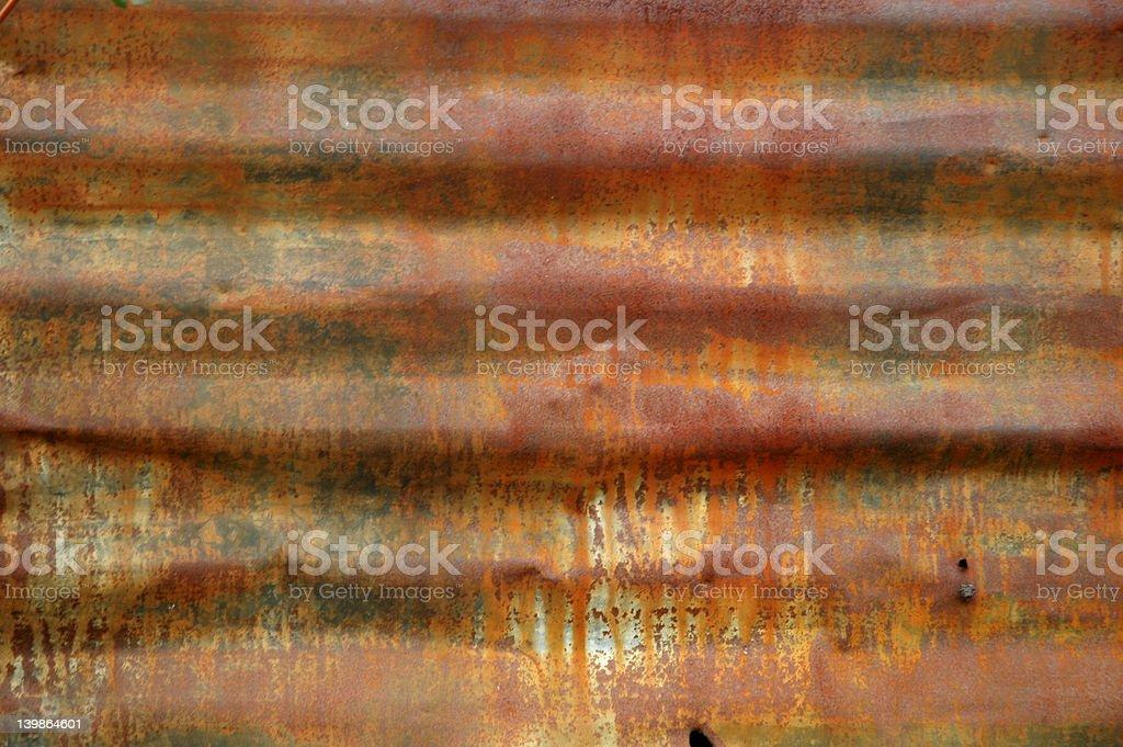Rusty Sheet Metal Texture stock photo