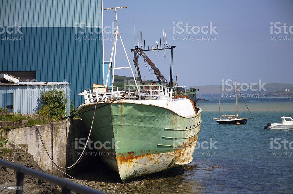 Rusty ship royalty-free stock photo
