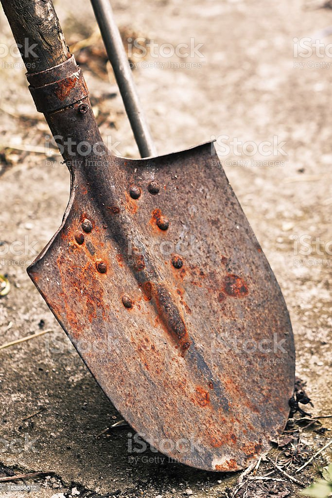Rusty Shovel, Gardening Tool royalty-free stock photo